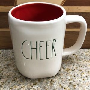 Rae Dunn Christmas green CHEER Coffee Mug NEW